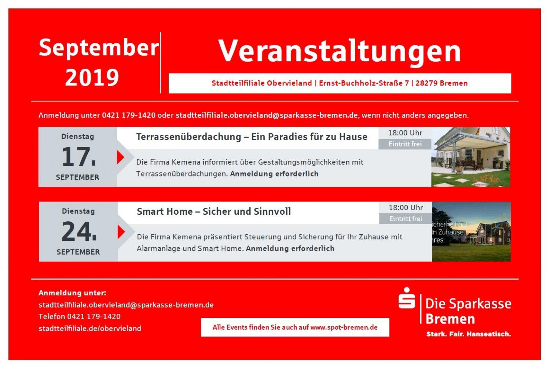, Veranstaltung zusammen mit der Sparkasse Bremen