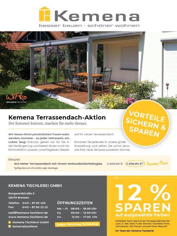 , Kemena Terrassendach-Aktion